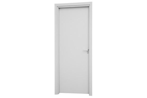 Porta Interna Esquerda Aluminium 215x88cm Branca - Sasazaki