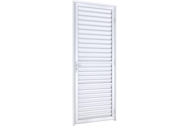 Porta Laminada Direita Ideale 215x75cm Branca - Lucasa