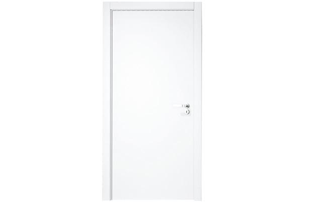 Porta Lisa Montada em Madeira Esquerda 210x82cm Primer - Vert