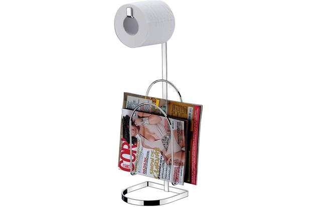 Porta Papel Higiênico com Suporte para Revistas Perfezione Cromado - Casanova