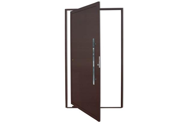Porta Pivotante Direita com Lambri E Puxador em Alumínio 210x100cm Cortem - Brimak
