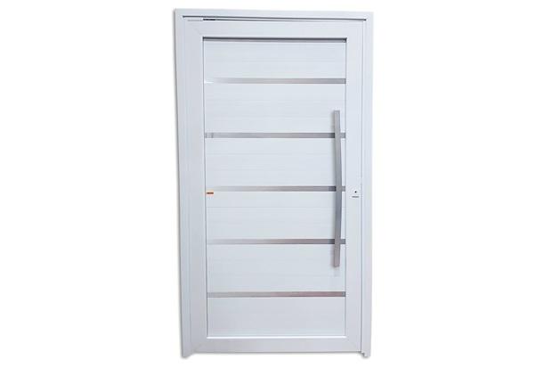 Porta Pivotante Direita em Pvc Premium 216x100cm Branca - Brimak