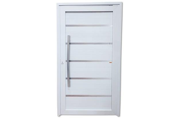 Porta Pivotante Direita em Pvc Premium 216x130cm Branca - Brimak