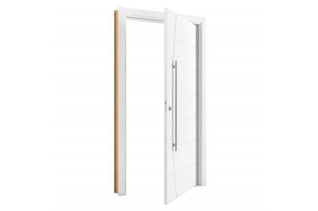 Porta Pivotante em Mdp Sólido Elegance 210x100cm Branca - Vert