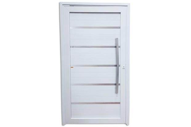 Porta Pivotante Esquerda em Pvc Premium 216x120cm Branca - Brimak