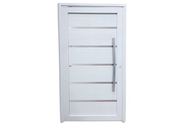 Porta Pivotante Esquerda em Pvc Premium 216x130cm Branca - Brimak