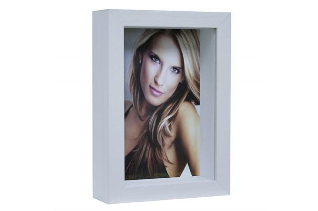 Porta Retrato Caixa Color 15x21cm Branco - Kapos