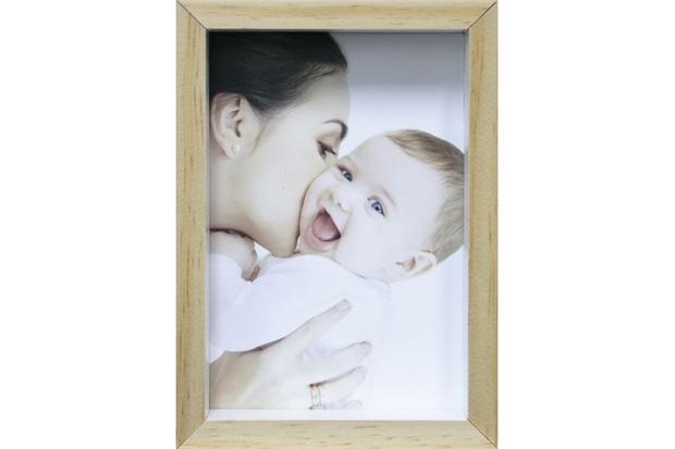 Porta-Retrato com Moldura Color Wood 10x15cm Branco - Kapos
