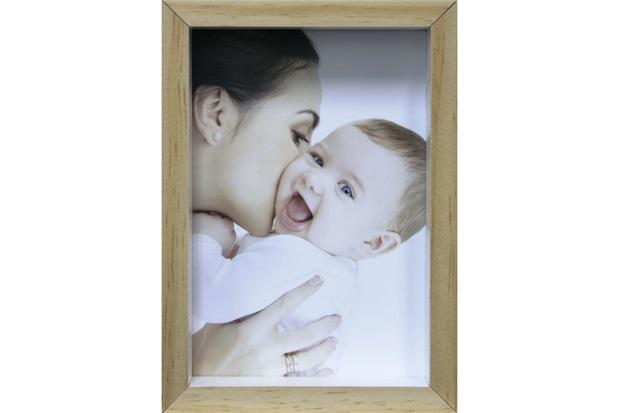 Porta-Retrato com Moldura Color Wood 15x21cm Branco - Kapos