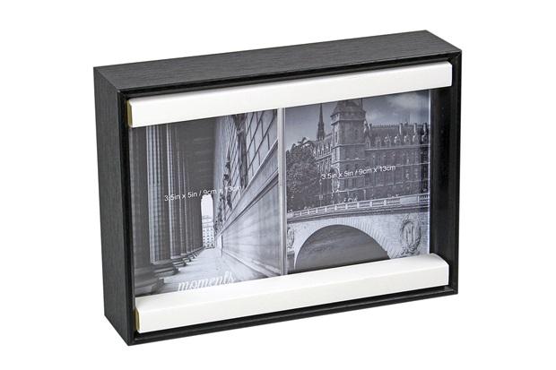 Porta-Retrato Duplo Anita 9x13cm Preto - Importado
