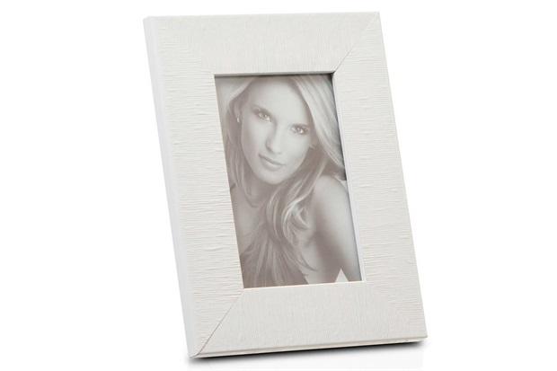 Porta Retrato em Madeira Hamptons 15x10cm Branco - Casa Etna