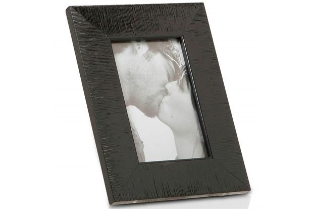 Porta Retrato em Madeira Hamptons 15x10cm Preto - Casa Etna