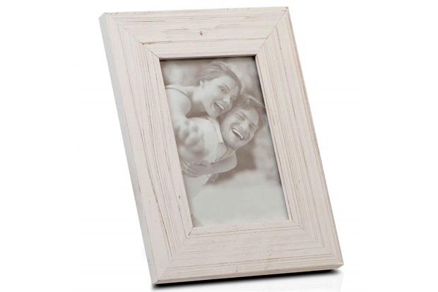 Porta Retrato em Madeira Juquey 15x10cm Branco - Casa Etna