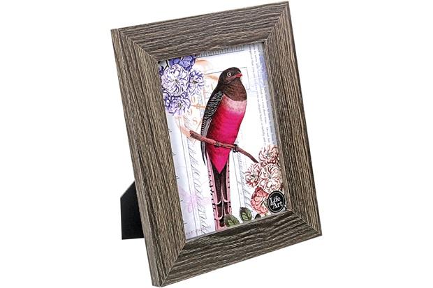Porta-Retrato Memphis Mdf Escuro 15x20cm - Importado