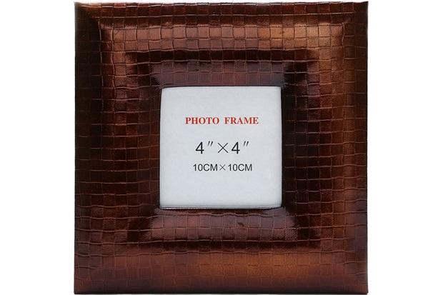 Porta-Retrato Trança 22x22cm Bronze - Importado