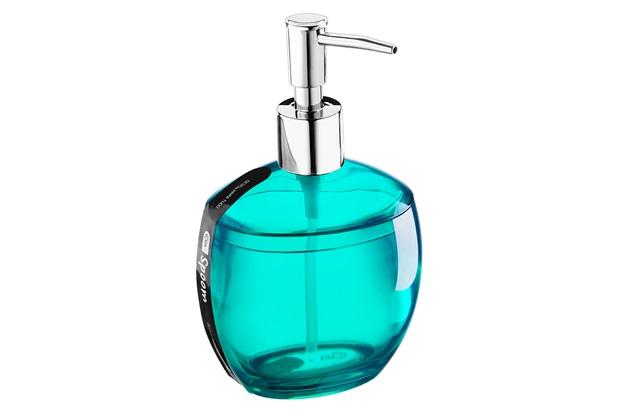 Porta Sabonete Liquido Spoom Verde Água 300ml  - Coza