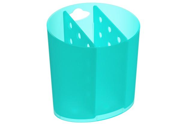 Porta Talher com 3 Divisórias Basic 14,4x13,8cm Verde - Coza