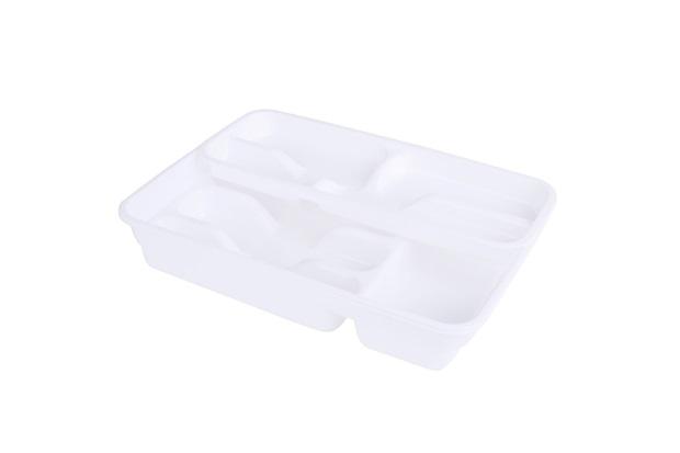 Porta Talher de Gaveta Loire Plástico Branco - Casa Etna