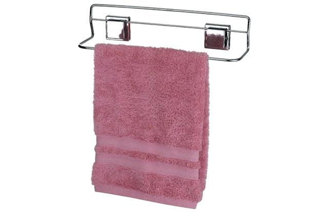 Porta Toalha de Banho com Fixação por Sucção Cromado - Arthi