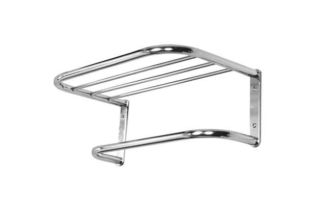 Porta Toalha de Banho com Suporte em Alumínio Pequeno Cromado - Sicmol