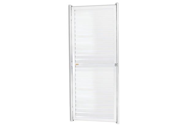 Porta Veneziana Direita em Alumínio Linha 25 180x60cm Branca - Brimak