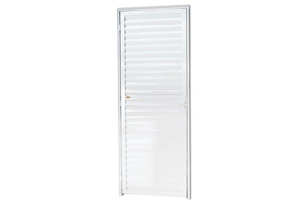 Porta Veneziana Direita em Alumínio Linha 25 210x60cm Branca - Brimak