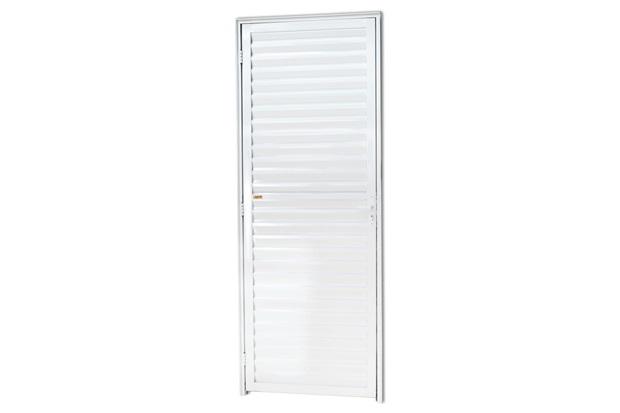 Porta Veneziana Direita em Alumínio Super 25 210x86cm Branca - Brimak