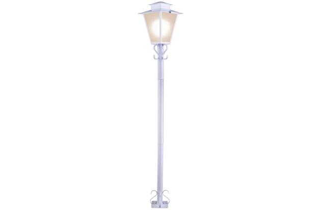 Poste Quadrado em Aço para Jardim 1 Lâmpada Bivolt Branco - Ideal