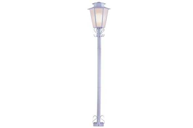 Poste Sextavado em Aço para Jardim 1 Lâmpada Bivolt Branco - Ideal