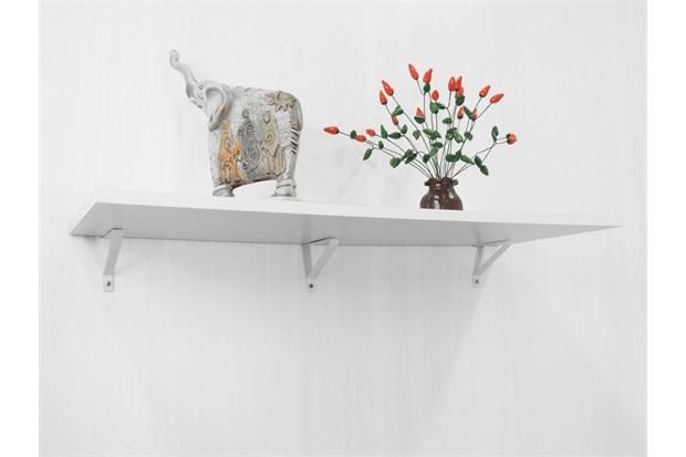 Prateleira com Suporte para Drywall Mdf Branca 60x20cm - Zamar