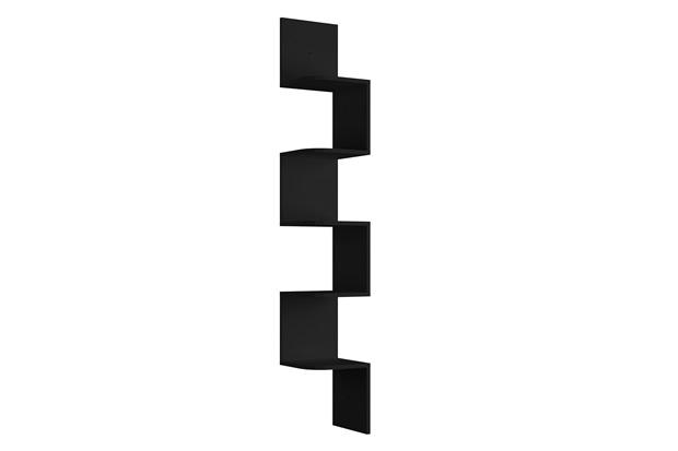 Prateleira de Canto em Mdp Decore 158x25cm Preta - Multivisão