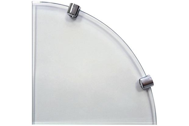 Prateleira de Vidro 8mm Canto 25x25cm - Bemfixa