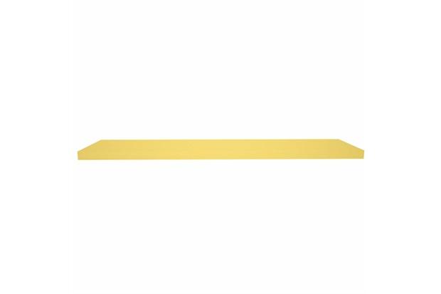 Prateleira em Madeira 100x25cm Amarela - Decorprat