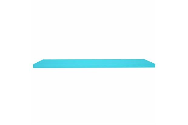 Prateleira em Madeira 100x25cm Azul Turquesa - Decorprat