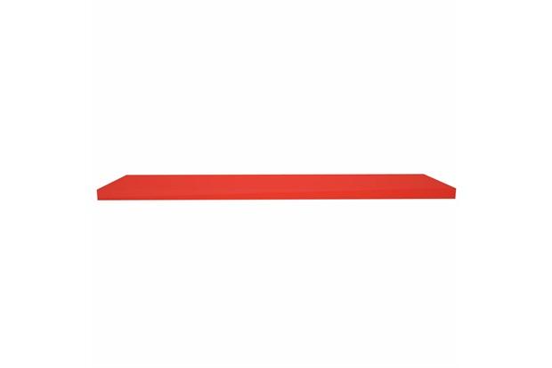 Prateleira em Madeira 100x25cm Natural Vermelha - Decorprat