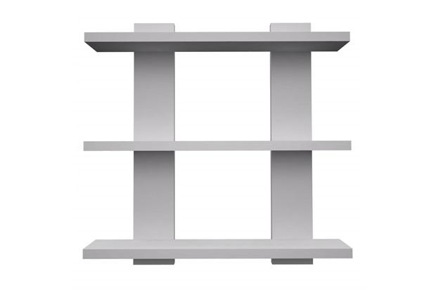 Prateleira em Madeira Estrado com 3 Estantes 45x35,5cm Branca - Muve Design