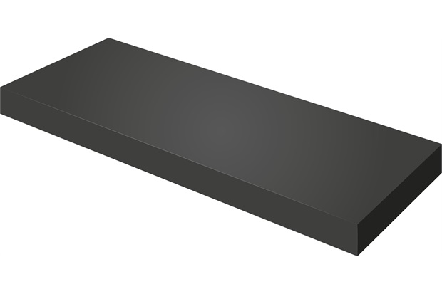 Prateleira em Mdp com Suporte Invisível 30x30cm Preto - Bemfixa