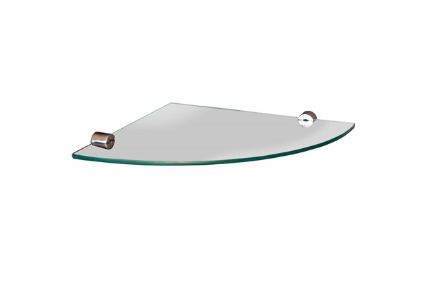 Prateleira em Vidro Canto 20x20cm Transparente - Sicmol