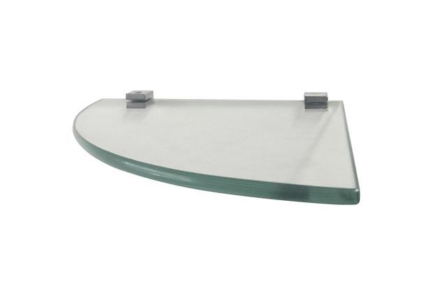 Prateleira em Vidro Quadrata 20x20cm Transparente - Rack System