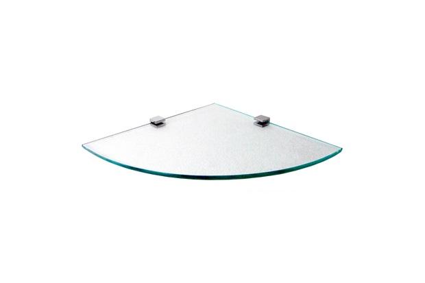 Prateleira em Vidro Quadrata 25x25cm Transparente - Rack System