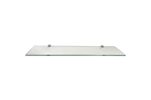 Prateleira em Vidro Quadrata 60x15cm Transparente - Rack System