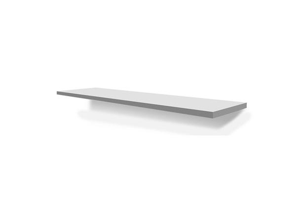 Prateleira  Fit com Suportes Branco 120cm  - Bumi Móveis
