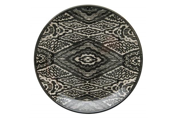 Prato de Sobremesa em Cerâmica Aquarelle 20cm Boho Black - Copa & Cia