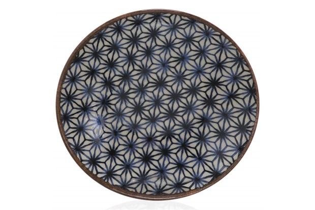 Prato em Cerâmica Asanoha Colors Azul - Casa Etna