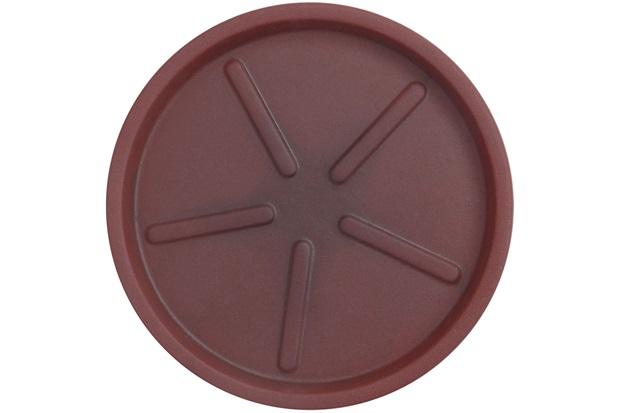 Prato em Polietileno para Vaso Redondo 26cm Antique Vermelho - Vasart