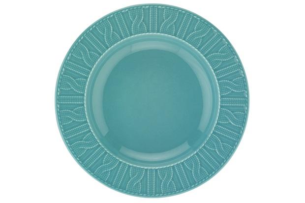 Prato Fundo em Cerâmica 22cm Azul - Casanova