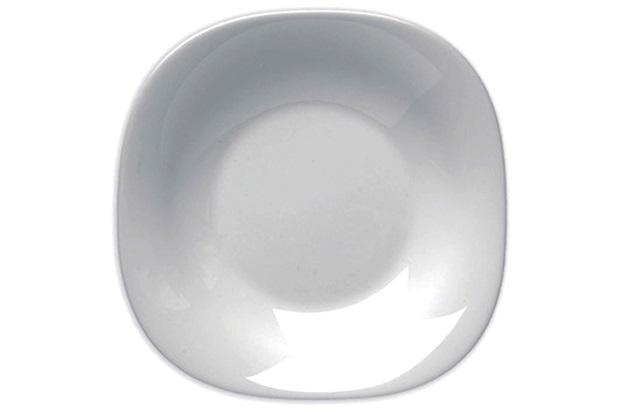 Prato Fundo em Vidro Parma 23cm Branco - Bormioli Rocco
