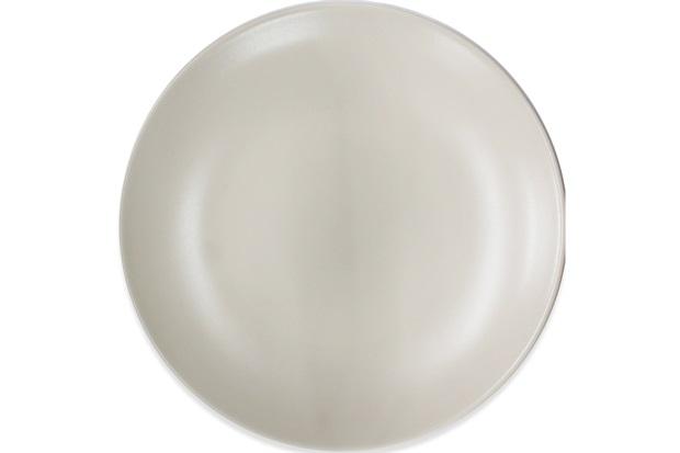 Prato Raso em Cerâmica 24cm Bege - Importado