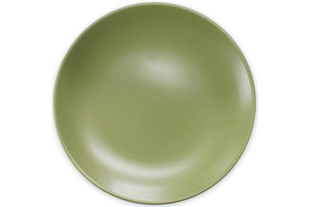 Prato Raso em Cerâmica 24cm Verde - Importado