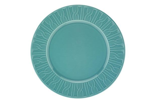 Prato Raso em Cerâmica 26cm Azul  - Casanova